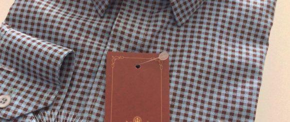 Camisa Tricoline - xadrez
